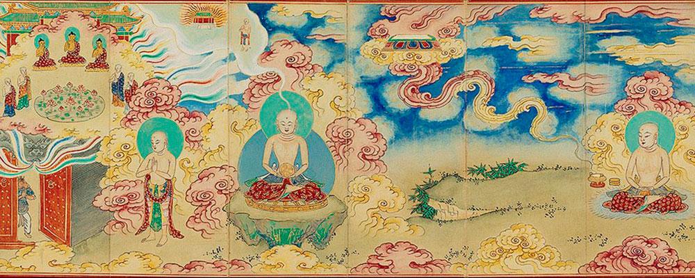Imágenes budistas de las seis perfecciones