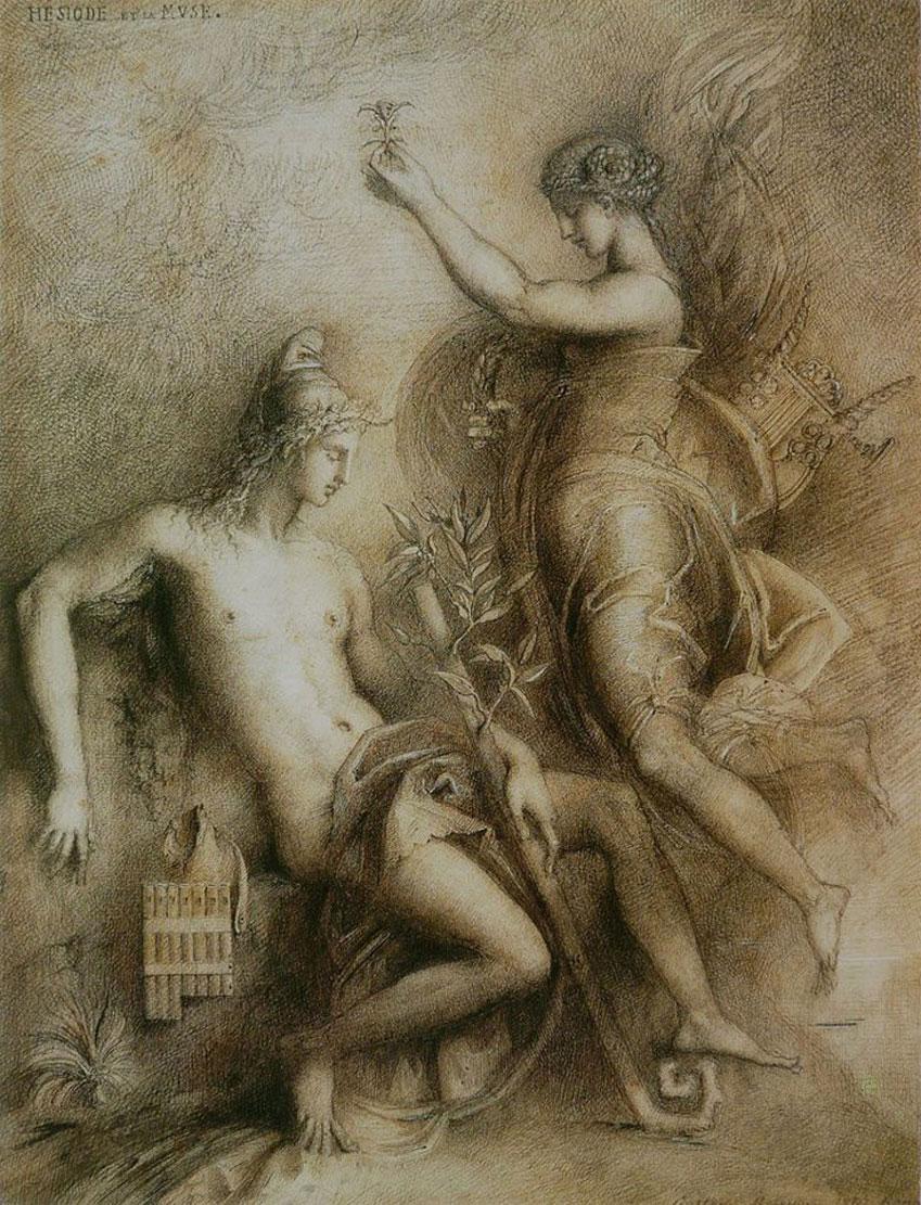 G.-Moreau.-Hesiodo-y-la-Musa