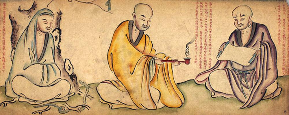 Representaciones de Buda y sus dicípulos