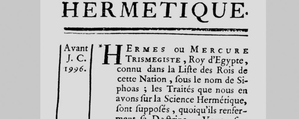La leyenda hermética a través de los siglos