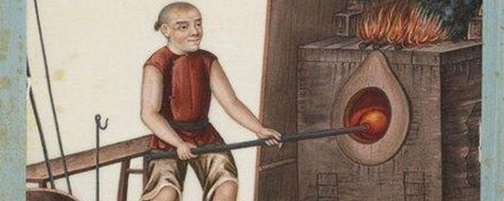 La fabricación del vidrio en la antigua China