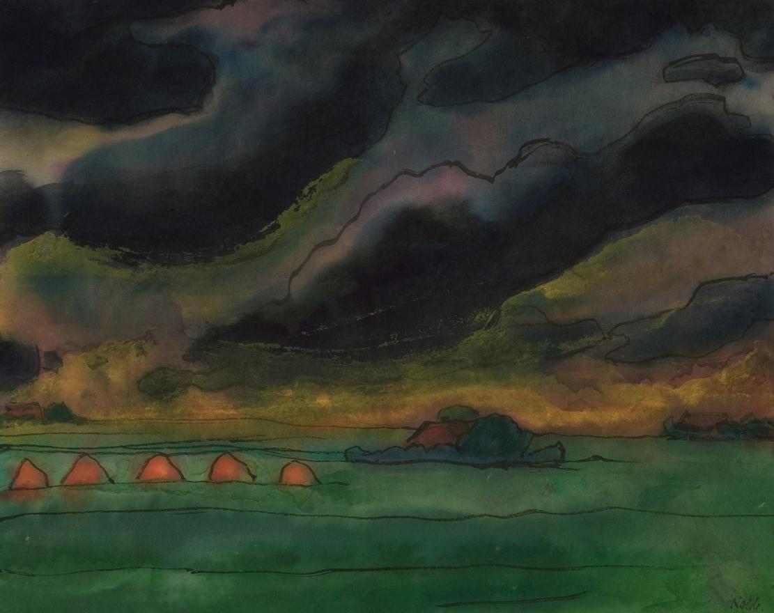 Emil NoldeNordfriesische Landschaft, um 1949Aquarell auf Papier