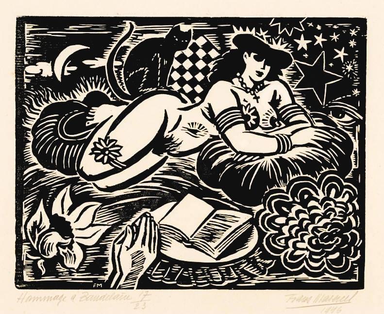 Frans Masereel ~ Hommage à Baudelaire 1946