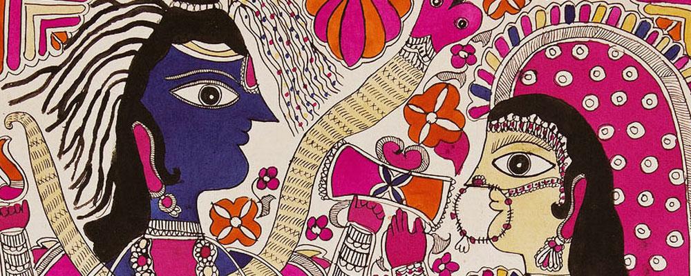 La vida de Rama en el arte de Madhubani o Mithila
