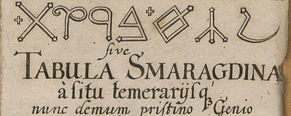 """Geometría y alquimia en la """"Tabla de esmeralda"""""""
