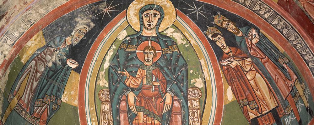 Ante Santa María de Taüll